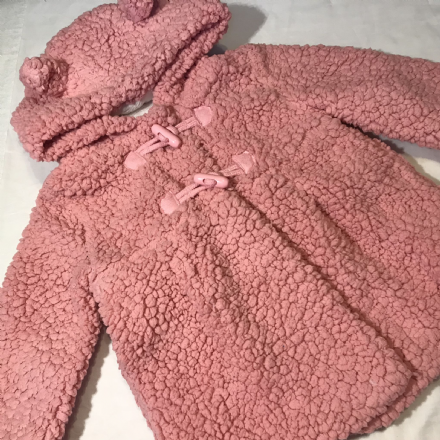 6-9 Month Pink Fur Duffle